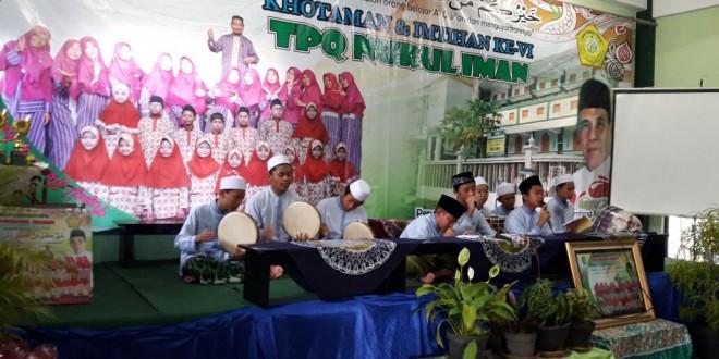 Hadrah Albanjari MTsN I Kota Malang  Meriahkan Khataman Alquran di TPQ Nurul Iman Balearjosari