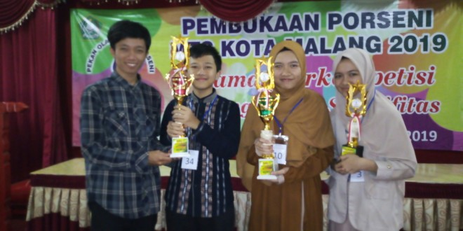 MTsN 1 Kota Malang Borong Juara 1Pidato Bahasa Indonesia Porseni MTs Kota Malang