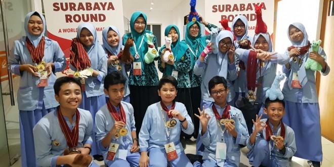 MTsN 1 Kota Malang Raih 64 Medali The World Scholars Cup Surabaya Round