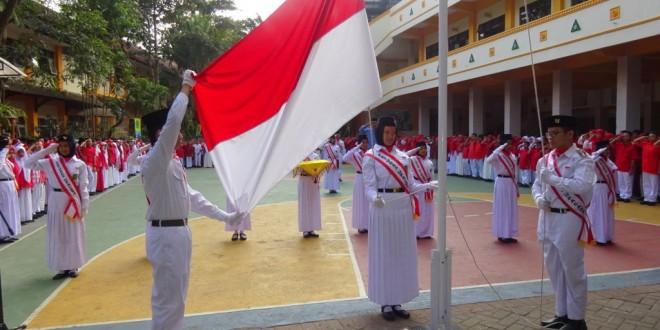 Nuansa Merah Putih, Upacara Peringatan Hari Kemerdekaan di MTsN 1 Kota Malang