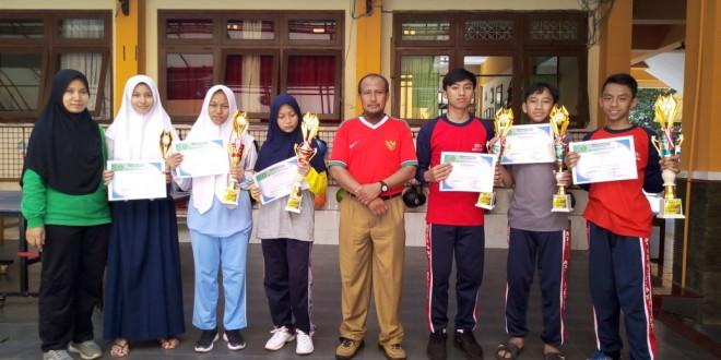 Tim Matsanewa Borong Empat Piala Tenis Meja Porseni Kota Malang