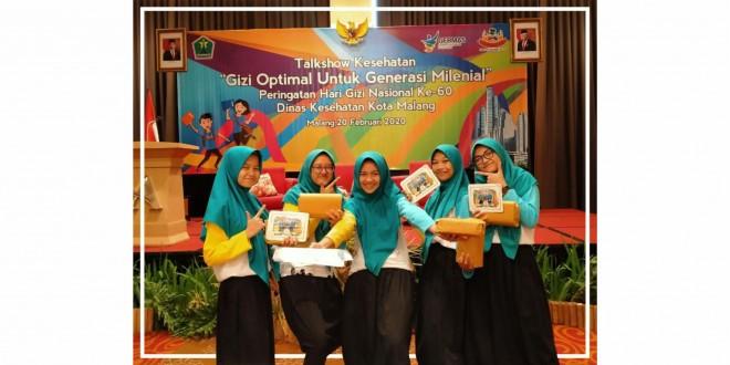 Siswi MTsN 1 Kota Malang Ikuti Dialog Interaktif Gizi Optimal untuk Generasi Milenial
