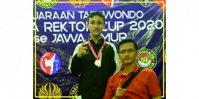 Siswa MTsN 1 Kota Malang Raih Medali Emas Taekwondo Unesa Rektor Cup 2020
