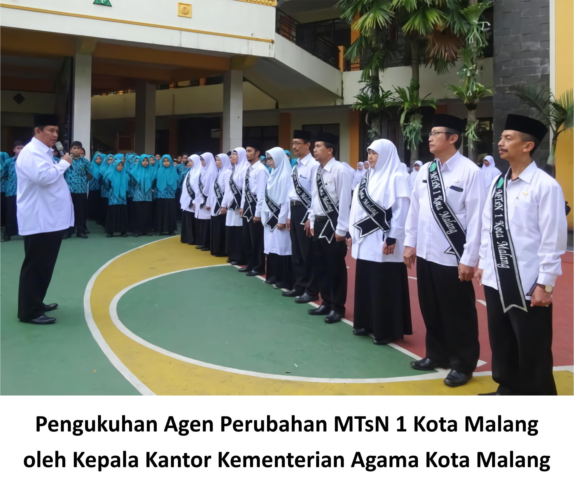Kakankemenag Kukuhkan Agen Perubahan MTsN 1 Kota Malang 1 4