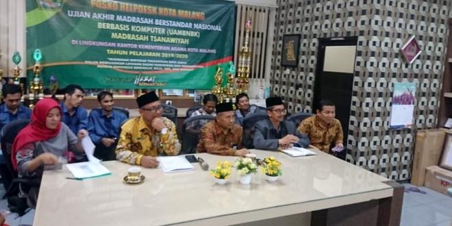Telewicara Dengan Kakanwil, MTs Kota Malang Siap Laksanakan UAMBN-BK