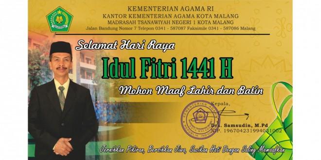 Jalin Silaturahmi, MTsN 1 Kota Malang Adakan Halalbihalal Secara Daring
