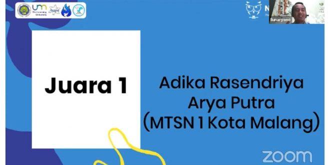 Siswa MTsN 1 Kota Malang Raih Juara 1 Olimpiade Fisika Tingkat Nasional