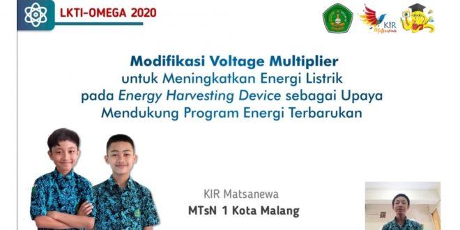 Siswa MTsN 1 Kota Malang Sukses Raih Juara 1 LKTI Tingkat Nasional