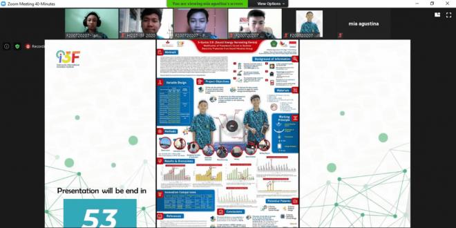 Perangkat Pemanen Energi Suara, Penelitian Siswa MTsN 1 Kota Malang Peraih Medali Perak I3F 2020