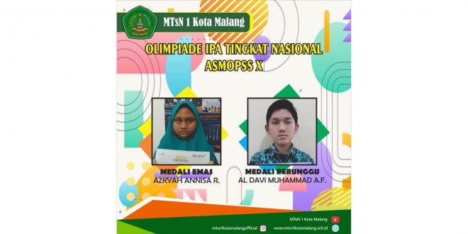 Siswa MTsN 1 Kota Malang Raih Juara Olimpiade IPA Tingkat Nasional