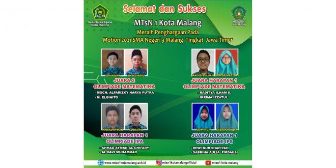 Siswa MTsN 1 Kota Malang Raih 4 Prestasi Motion 2021