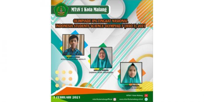 Siswa MTsN 1 Kota Malang Sukses Raih Tiga Medali Olimpiade IPA Tingkat Nasional