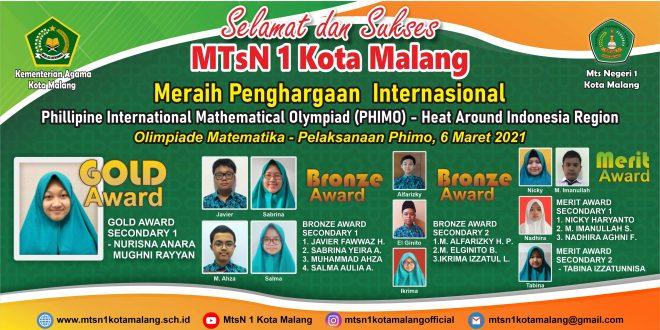 Siswa MTsN 1 Kota Malang Borong 12 Prestasi PHIMO Heat Around Indonesia Region 2021