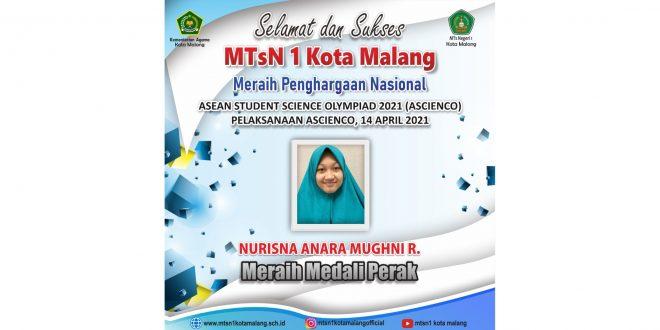 Siswi MTsN 1 Kota Malang Sukses Raih Medali Perak ASCIENCO 2021