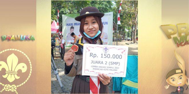 Siswi MTsN 1 Kota Malang Raih Juara 2 Lomba Kreasi Simpul 2021