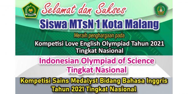 MTsN 1 Kota Malang Sukses Raih 20 Medali dalam Olimpiade Bahasa Inggris Tingkat Nasional