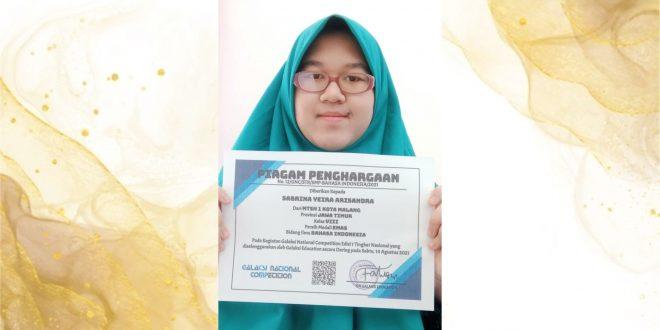 Sabrina Yeira, Peraih Medali Emas Olimpiade Bahasa Indonesia 2021 Tingkat Nasional